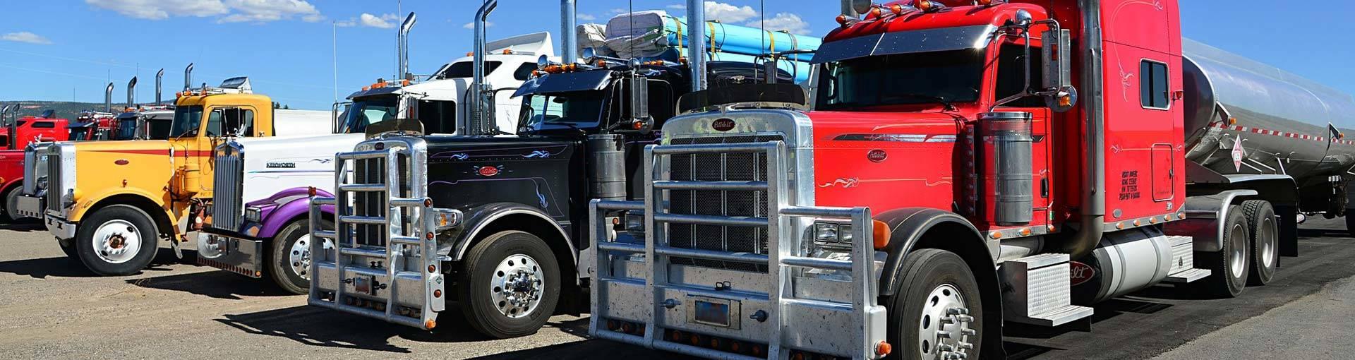 semi truck heavy truck sandblasting in bc